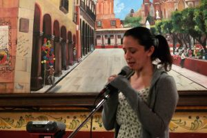 Diana Spechler at La Pamplonada Restaurant, San Miguel de Allende