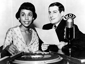Diahann Carroll during a 1953 radio interview with Leigh Kamman at the Palm Cafe in Harlem