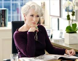 Picture of Meryl Streep as a fashion magazine editor in The Devil Wears Prada