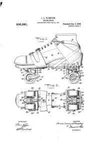 patent diagram of a roller skate